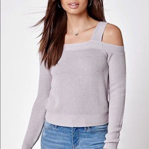 Kendall & Kylie Cold Shoulder Sweater